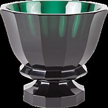 Dark Green Josef Hoffmann Vase for the Wiener Werkstätte