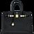 Celeb Fave Hermes Black Togo 35cm Birkin Gold Hardware GHW Power Birkin