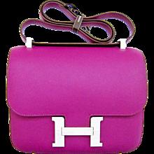 Hermes Anemone Constance 24cm MM Shoulder Palladium PHW Bag