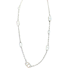 Hermes Farandole 80cm Long Solid Silver Necklace Classic