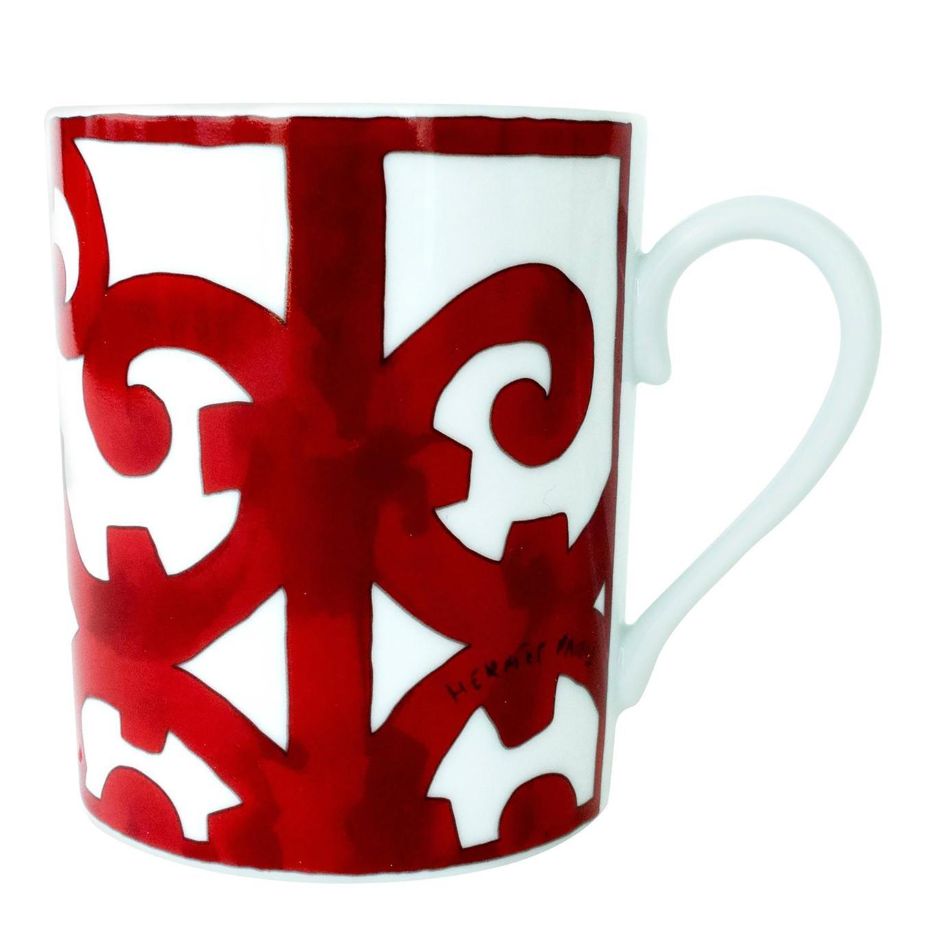 Hermes Balcon Du Guadalquivir Porcelain Ceramic Coffee Mug