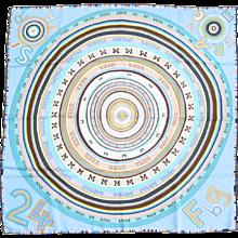 Hermes Tohu Bohu Blue Taupe Silk Scarf 90cm Carre GRAIL