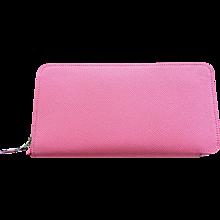 Hermes Rose Confetti Pink Silk-In Wallet Silk Interior Della Cavalleria Gift