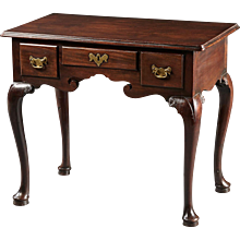 An 18th Century English George II Lowboy in the Finest Mahogany
