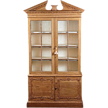 An 18th Century English Chippendale Period Pine Cabinet