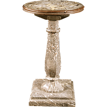 An English George IV Period Marble Pedestal Table