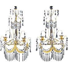 A Pair of English Regency Period Wall Sconces