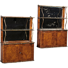 A Pair of 18th Century Louis XVI Hanging Shelves / Cabinets