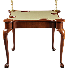 An English 18th Century George II Walnut Card Table
