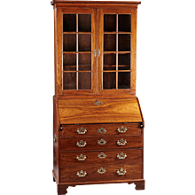 An 18th Century Chinese Export Secretary Bureau Bookcase in Rosewood/Padouk