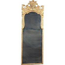 An English George II Period Giltwood Pier Mirror