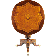 An Inlaid Italian Tilt Top Table