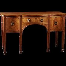 An 18th Century English Sheraton Period Mahogany Inlaid Sideboard