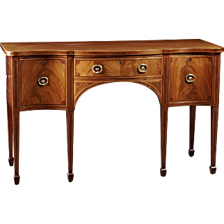 An 18th Century English Sheraton Period Mahogany Inlaid Sideboard