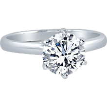 Diamond Solitaire Engagement Ring 0.54 cts. Gia