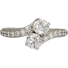 1.35 Carats Ever Us Two Stone Friendship Ring