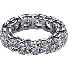 5.60 Carats Diamonds Platinum Eternity Band Ring