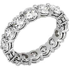 Eternity Shared Prong Airline Ring: 5.03 cts.