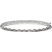 1.91 Carats Diamond Gold Curved Bangle Bracelet