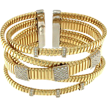 Diamond 5 Row Goose Cuff Bangle