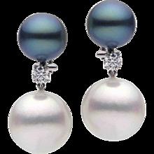 Pearls Diamond Gold Earrings