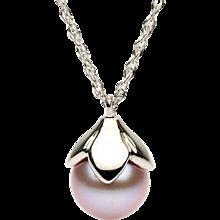 14K Pink Freshwater Pearl Pendant