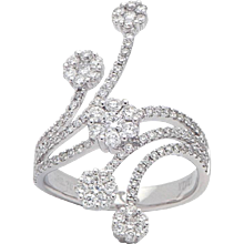 Floral Decor Diamond Ring