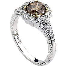 Natural Rough Brown Diamond Ring