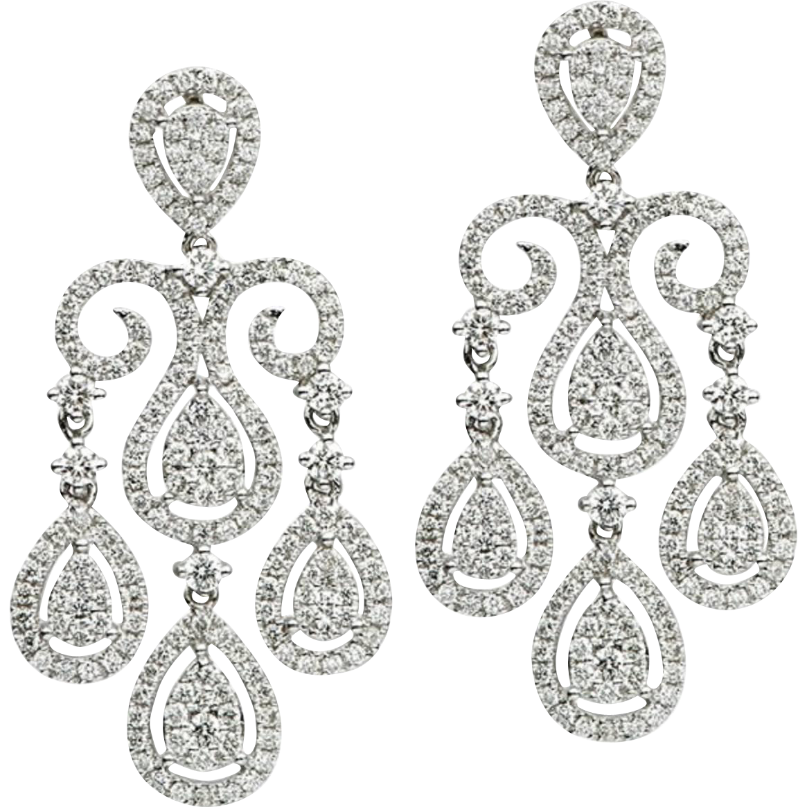 Diamond Gold Chandelier Earrings Harbor Diamonds Rubylux