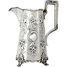 R & W Wilson Coin Silver Serving Pitcher