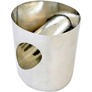 Antonio Pineda Mexican Sterling Silver Modernist Tumbler