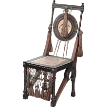 Carlo Bugatti Copper-Inlaid Chair
