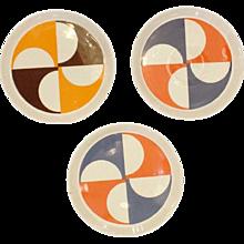 Set of Three Gio Ponti Plates #3, Italy, 1960s