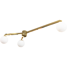 Limited Edition Three Arm Flush Mount Fixture by Gaspare Asaro
