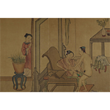 Chinese Album of Eight Erotic Paintings