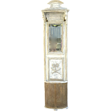 Painted Hall Stand with Two Solid Brass Hooks