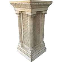 19th century Carved and Painted Pedestal