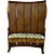 English Elm Curved Barrel Back Settle Bench Tavern Two Drawers