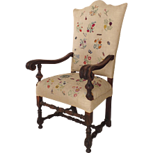Italian 18th Century Walnut Armchair