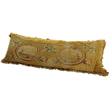 LAte 19th Century Aubusson Fragment Fabric Cushion Pillow