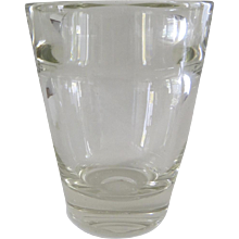 Glass Vase by Andries Dirk Copier for Leerdam Glass Works Dutch c 1936