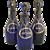 Set of Three Decanters Blue Cobalt Glass Rum, Hollands, Brandy.