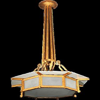 Bronze French Deco 1930's Pendant
