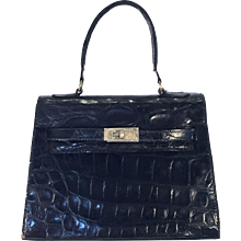 Black Alligator Kelly Bag (not Hermes)