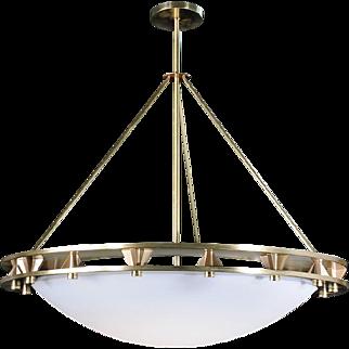 Fullerton Pendant in Satin Brass