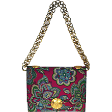 Mod 1970's Pucci Handbag with Great Chain