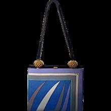 Vintage Pucci Silk Shoulder Strap Handbag