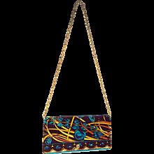 Mod Velvet Pucci Handbag with Chain