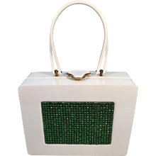 1950's White Lucite Wilardy Lunchbox