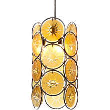 1950's three light pendant attributed to Gino Vistosi